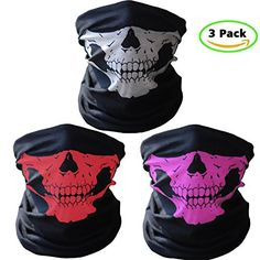 GAMPRO 3 Pcs Breathable Seamless Tube Skull Face Mask, Dust-proof Windproof Motorcycle Bicycle Bike Face Mask for Cycling, Hiking, Camping, Climbing, Fishing, Hunting, Motorcycling (1 SET) - http://todays-shopping.xyz/2016/06/28/gampro-3-pcs-breathable-seamless-tube-skull-face-mask-dust-proof-windproof-motorcycle-bicycle-bike-face-mask-for-cycling-hiking-camping-climbing-fishing-hunting-motorcycling-1-set/