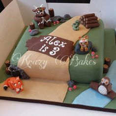 The Gruffalo themed cake
