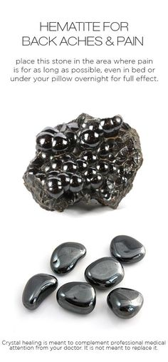Crystal healing: Hematite for back pain & backaches