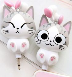 "Cute cartoon cat modelling phone headset line sold by Asian Cute {Kawaii Clothing}. Shop more products from Asian Cute {Kawaii Clothing} on Storenvy, the home of independent small businesses all over the world. Code ""sunflower"" for off."