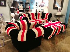 British Flag Furniture by Zuo- so cool! #hpmkt