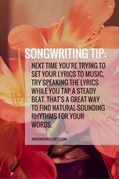 Songwriting Tip | Modern Songstress Blog