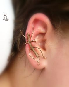 Botsáska | Flickr. Amazing stick insect ear cuff :D