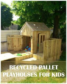 how to build a playhouse with wooden pallets step by step tutorial