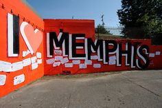 Locations of the I Love Memphis murals