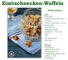 Cinnamon Roll Waffle Bites - Zimtschnecken Waffeln | Das Knusperstübchen