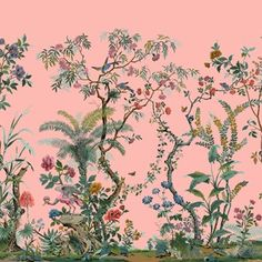 Discover wall mural design ideas on HOUSE - design, food and travel by House & Garden. Zuber has been producing decorative wall coverings since Its 'Décor Chinois' has a rich history. Zuber Wallpaper, Scenic Wallpaper, Chinoiserie Wallpaper, Wall Wallpaper, Botanical Interior, Hand Painted Wallpaper, Wall Murals, Wall Art, Garden Posts