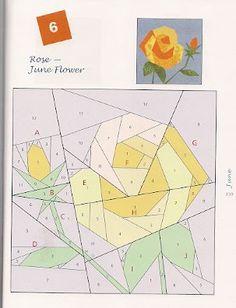 rose flower quilt block