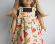 18 inch Doll Clothes fits American Girl - Jumper Set (fruit)
