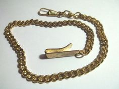 Vtg Pocket Watch Chain Fob w U Belt Pant Hook | eBay