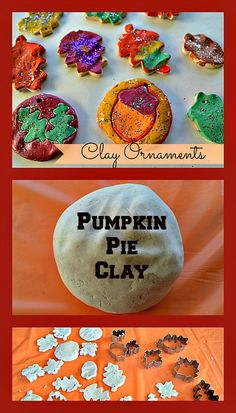 Homemade Pumpkin Pie Spice Clay Ornaments from Blog Me Mom