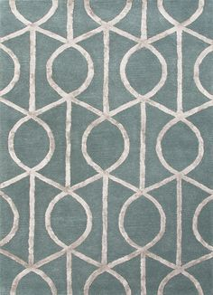 Over scaled sharp geometrics characterize this striking contemporary range of hand tufted rugs. Click to Buy #geometricrug #bluerug #rugs