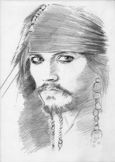 pencil drawing - Johnny Depp