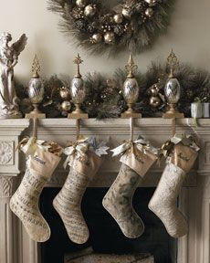 "There's no way I'm paying $98 for a stocking... but as we are going to our ""own"" stockings, I need a musical one. I bet I could find some cool sheet music fabric and just make one. :)"