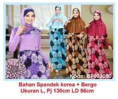 Baju Gamis Modern Terbaru - Detail produk model Baju Gamis syari motif bunga 090: Bahan : Spandek korea Kode : BF903090 Ukuran : Fit to L , Panjang 130cm, Lingkar dada 96cm Warna : Bi