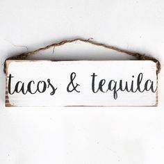 Tacos et Tequila / art mural / bois signe / par SeaGypsyCalifornia