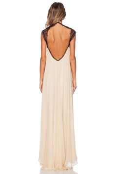 Alexis Alexis Gela Open Back Gown in Nude | REVOLVE