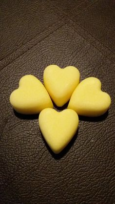 4 x Lemon Meringue Mini Heart 100% Soy Wax by AmandaClaireCrafts on Etsy