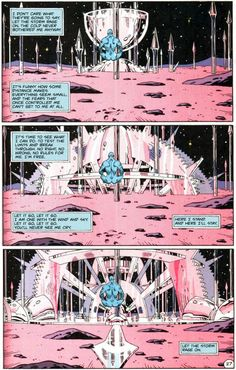 Recently rediscovered: a page from Watchmen showing some of Dr. Manhattan's original inner dialogue.