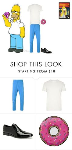 """""""The Simpson's- Homer Simpson"""" by batgirl-at-the-disco3 ❤ liked on Polyvore featuring AMI, River Island, Calvin Klein, Round Towel Co., men's fashion and menswear"""