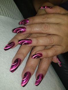 Crazy pretty pink nails