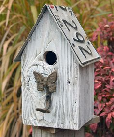 Rustic Birdhouse Primitive birdhouse Recycled by ruraloriginals Rustic Bird Feeders, Bird House Feeder, License Plate Art, Birdhouse Designs, Bird Houses Diy, Rare Flowers, Recycled Wood, Birds, Outdoor Decor
