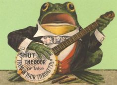 FROG IN YOUR THROAT POSTCARD by Robert Opie See our eBay shop for more old cards