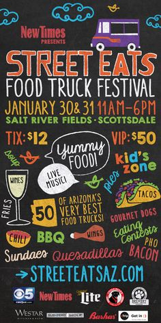 Get ready for the Street Eats Food Truck Festival at Salt River Fields at Talking Stick - check out tasty food trucks, celebrity chefs, live music & more. #winter #ScottsDale #AZ #hitrentals
