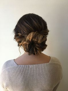 pretty + professional updo hairstyle | hair by goldplaited