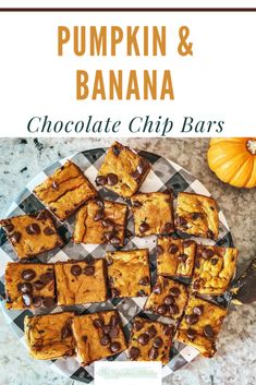 If you have any over ripe bananas and are not sure what to do with them, then this is a great recipe to try! The combination of pumpkin puree, bananas, and chocolate chips is perfect. Ripe Banana Recipes Healthy, Healthy Pumpkin, Healthy Recipes, Easy Family Meals, Family Recipes, Great Recipes, Chocolate Chip Bars, Cake Flavors, Pumpkin Puree