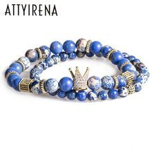 Get The Latest Fashion Jewelry  2pcs/set Bead Bracelet Crown Charm Bangle Natural Blue Emperor Stone BeadsBuddha Bracelet for Women and Mens Pulseras Masculina     Buy Jewelry At Wholesale Prices!     FREE Shipping Worldwide     Buy one here---> http://jewelry-steals.com/products/2pcs-set-bead-bracelet-crown-charm-bangle-natural-blue-emperor-stone-beadsbuddha-bracelet-for-women-and-mens-pulseras-masculina/    #fashion_jewelry #men'sjewelry