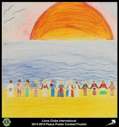 Finalist from Kentucky, USA (Shelby County Lions Club) - 2013-2014 Peace Poster Contest