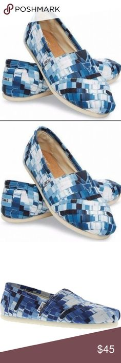 Toms Classic Ink Satin Paint Print Slip On Shoe Brand: Toms Classic Womens Shoes Style: 10004949 Condition: Brand New with Box Size: Women Size 6 Color: Ink Satin Paint Print  These Toms are BRAND NEW but do not come with a box. Toms Shoes Flats  Loafers