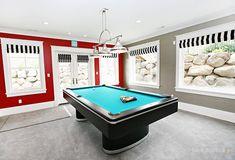 House of Turquoise: Dream Home Tour. Basement Family-Billard Room