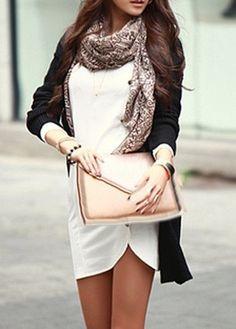 Long Sleeve dress Button Decor women Sheath Dress... - Street Fashion
