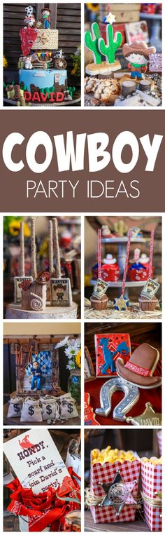 Amazing Cowboy First Birthday Party featured on Pretty My Party