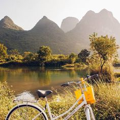 Care to take a bicycle ride through the mountains of China? #yangshuo #guilin #china #asia #travel Follow @ilovetravelbugblogger