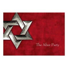 Bar Mitzvah Red Suede Grunge Silver Star Personalized Invites We have the best promotion for you and if you are interested in the related item or need more information reviews from the x customer who are own of them before please follow the link to see fully reviewsThis Deals          ...