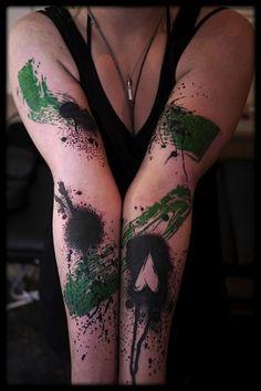 White Rabbit Tattoo Studio// By Matth // Great painterly effect.