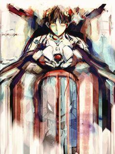 Rebuild of Evangelion Anime Shinji Ikari signed by barrettbiggers, $10.00