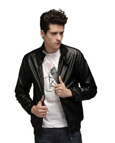 Men's Leather Jacket, Leather Men, Leather Coats, Leather Jackets, Motorcycle Leather, Business Casual, Bomber Jacket, Slim