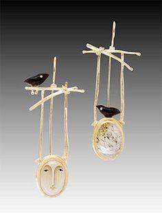 Carolyn Morris Bach designer jewelry - Bellagio - Art to Wear Gallery, Asheville, North Carolina I Love Jewelry, Modern Jewelry, Jewelry Art, Jewelry Accessories, Fine Jewelry, Jewelry Necklaces, Jewelry Design, Unique Jewelry, Designer Jewelry