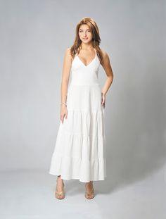vestido de lino blanco - Buscar con Google