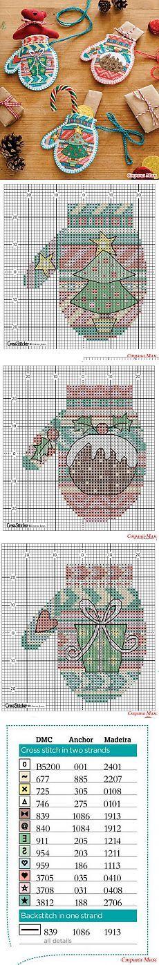 "Рождественкие варежки ""Mini mittens"" - Бискорню и другие ""кривульки"" - Страна Мам"