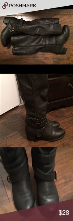Target boots super comfy These are so comfy and oh so cute! Gently worn about 4-5 times. Purchased from target Mossimo Supply Co Shoes Heeled Boots