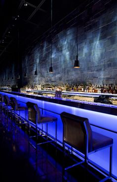 Hakkasan restaurant in Abu Dhabi which was designed by Woods Bagot architects with Gilles and Bossier as interior designers and lighting by Firefly Lighting Design