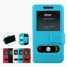 Fly IQ456 ERA Life 2 case Simple special leather case with Double window and Non-slip cover2 free shipping