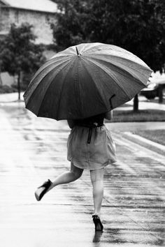 Finding joy in things like dancing in the rain is what makes simple ordinary things beautiful.