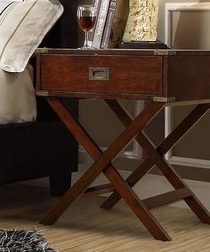 Another great find on #zulily! Brown Talbott End Table #zulilyfinds