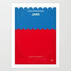 My Jaws minimal movie poster Art Print by Chungkong - $18.00